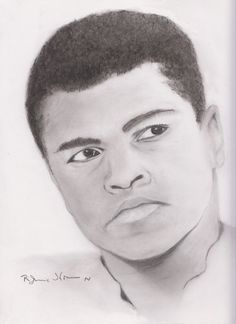Pencil Drawing Muhammad Ali by StyllLifes on Etsy