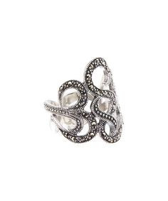 Another great find on #zulily! Marcasite & Sterling Silver Wavy-Line Ring #zulilyfinds
