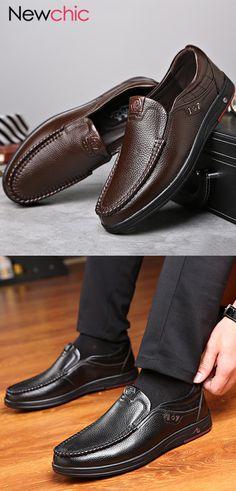 off】Men Large Size Cow Leather Soft Sole Casual Shoes Discount Mens Shoes, Cheap Mens Shoes, Mens Shoes Sale, Mens Shoes Online, Men S Shoes, Leather Loafers, Cow Leather, Loafers Men, Knit Shoes