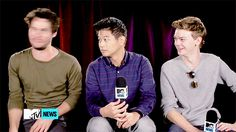 Dylan O'Brien - The Maze Runner... LOOKIT THOMAS HE'S LAUGHING SO HARD and then there's Minho