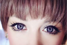 The EOS Candy (aka Sakura) circle contacts feature a dark limbal ring to clearly define your eyes while adding a cute jelly-like pop of color! Lolita Makeup, Gyaru Makeup, Hair Makeup, Beauty Make Up, Hair Beauty, Baby Doll Eyes, Circle Lenses, Light Eyes, Colored Contacts