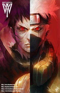 Obito/ Kakashi by wizyakuza