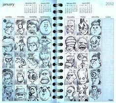 Bob Canada's BlogWorld: Return Of The Journal Doodles!