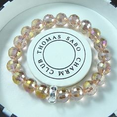 Thomas Sabo Bracelets Cheap Reconstructed Crystal Stretch Bracelet Light Brown