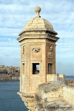 Gardjola Tower, Senglea, Malta. - Find more free / public domain pictures @ http://www.malta-blogger.com/galerie/malta-public-domain-fotos/