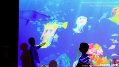 Incredible kids interactive play area. This is really mind blowing. Make sure you watch the video. Sketch Aquarium / お絵かき水族館