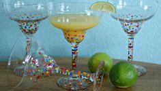DIY Painted Margarita Glasses