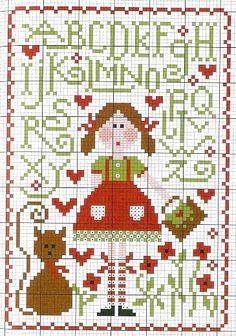Cross Stitch Little Girl Sampler