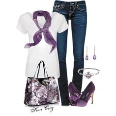 Purple Perfection! by keri-cruz on Polyvore