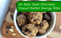No Bake Dark Chocolate Peanut Butter Energy Bites - These are loaded with nutrients, all the fiber you need, & all the LDL you need! DELICIOUS