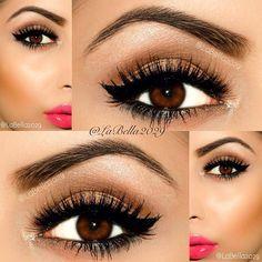 Eye make up for brown eyed girls! Pretty Makeup, Love Makeup, Makeup Tips, Makeup Looks, Makeup Ideas, Simple Makeup, Gorgeous Makeup, Fall Makeup, Sweet Makeup