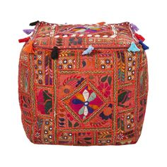 Recreate the look and feel of your home by choosing this Artistic Weavers Khalida Red Accent Pouf. Go Glamping, Tent Camping, Modern Ottoman, Textiles, Diy Home, Pouf Ottoman, Red Accents, Dot And Bo, Home Decor Styles