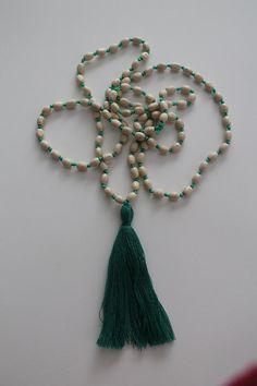 Yoga Necklace Mala Yoga Tassel Necklace Wooden Bead Necklace Meditation Prayer Beads Yoga Beads Wooden Beadwork