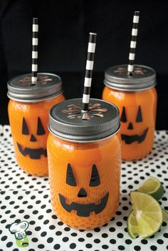 Spooky Orange Smoothie Recipe : These fruity orange smoothies are a perfect fun Halloween treat before heading out for trick-or-treating. Sweet and refreshing, they're delicious any time of year.