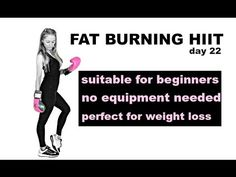 (14) Fat Burning HIIT Cardio Workout with No Equipment: At Home Cardio HIIT Workout - YouTube