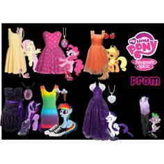 My Little Pony -Prom, created by mspaigemeadows on Polyvore