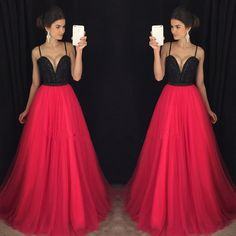 Charming Red Prom Dress,Long Evening Dress,Sexy Prom Dresses,Sleeveless