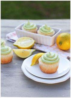 green tea lemon cupcakes