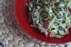 Wow Your 4th of July Guests with this Pasta-less Zucchini Pasta Salad | Inspiralized