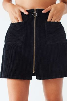 Urban outfitters Corduroy Zip A-Line Skirt