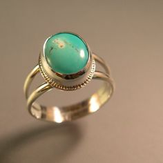 ROBIN'S+EGG++Turquoise+sterling+silver+ring+by+ChrisMuellerJewelry