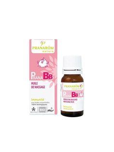 Pranarom - Pranabb huile de massage bio - 10 ml huile essentielle - Immunité, dès 3 mois: Amazon.fr: Hygiène et Soins du corps