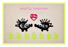 Sendings hedgehogs - Funny Printable Valentine's Day Card - Instant Download