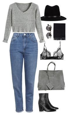"""Untitled #953"" by romane-inspiration ❤ liked on Polyvore featuring rag & bone, Topshop, Yves Saint Laurent, Kiki de Montparnasse, Balenciaga, Acne Studios, Illesteva, women's clothing, women and female"