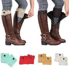 Cheap socks one size fits all Buy Quality boot socks women directly from China boots garden Suppliers: Women Ladies Winter Leg Warmers Button Crochet Knit Boot Socks Toppers Cuffs Features: Brand New Long Boots, Knee High Boots, Over The Knee Boot Outfit, Crochet Buttons, Crochet Socks, Knit Boots, Thing 1, Lace Knitting, Knit Lace