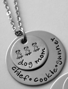 Mother's Day Gifts for the Dog Mom:  Personalized Dog Mom Necklace by Lauriginal Designs at Etsy