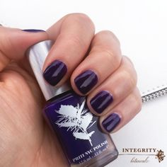 Priti NYC Blue Sage nail polish #8freenailpolish #crueltyfree #vegan #bluesage #bluenails #purplenails