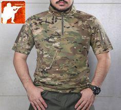 MULTICAM-ALL-TERRAIN-Short-Sleeve-Combat-SHIRT-Tactical-Army-T-Shirt-Airsoft-Men