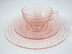 pink hobnail depression glass - want some