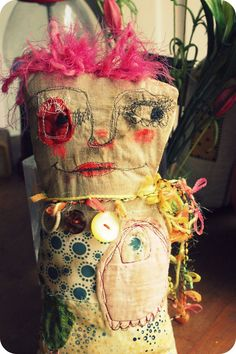 Polly Jean........original tattered art doll by Mindy Lacefield