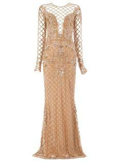 ZUHAIR MURAD Ornate Lattice Gown