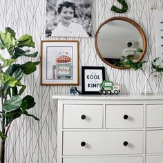 How to Mix Patterns - All About Pattern Play! Basement Paint Colors, Basement Painting, Baby Boy Rooms, Nursery Neutral, Pattern Mixing, Mixing Prints, New Room, Nursery Decor, Backdrops