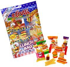SweetGourmet Original Gummi Lunch Bag Fun mix of Gummy Hamburgers, Sour Gummy Fries, Gummy Cola Bottles, Gummy Hot Dog and Gummy Pizza Candy Gift Baskets, Candy Gifts, Baby Dolls For Kids, Toys For Girls, Frozen Cupcake Toppers, Sweet Sushi, Candy Videos, Accessoires Barbie, Candy Brands