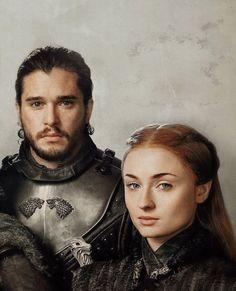 Jon and Sansa, cousins pose for family portrait, lol