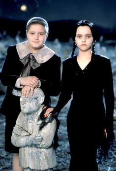 Pugsley & Wednesday Addams Going as Wednesday Addams for Halloween. ❤