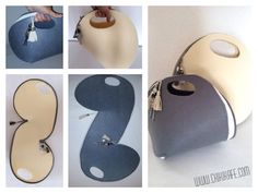 Diy felt bag inspired by Josh Jakus. Fantastic idea.