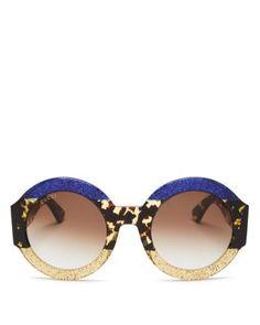 f2050b7b72 Gucci Women s Oversized Round Sunglasses