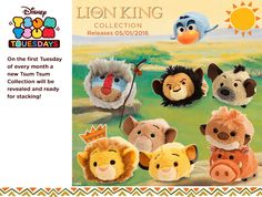 The Lion King Tsum Tsum Collection will be available on January 5, 2016!