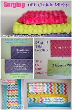 Tips for Serging with Cuddle Minky from Giggles and Beans where you can find tons of minky projects! www.gigglesandbeans.com