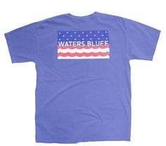 Waters Bluff Stars and Waves Short Sleeve Tee- Flo Blue from Shop Southern Roots TX