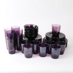 Purple Glass Tableware