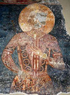 Despot John Oliver, nobleman of tsar Stephen Dušan. Monaster… – Graffiti World 14th Century Clothing, John Oliver, Graffiti Murals, Textiles, Viking Age, Medieval Clothing, Orthodox Icons, Illuminated Manuscript, Byzantine