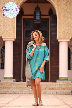 Tunic Hafsa・Moroccan Blue Palace lookbook