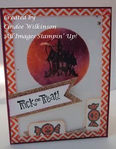 Cindee's washi tape shaker card uses Best of Halloween & Halloween Hello with Witches' Brew washi tape.