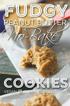 Peanut butter overload!!! These no-bake cookies are no cocoa, all mmmmmpeanut buttery goodness! #peanut #butter #no-bake #cookies #oats #stove #vegan #dairy #gluten #free #clean #whole #natural