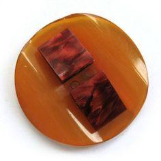Vintage Large 1920's Art Deco Butterscotch Bakelite Button   eBay